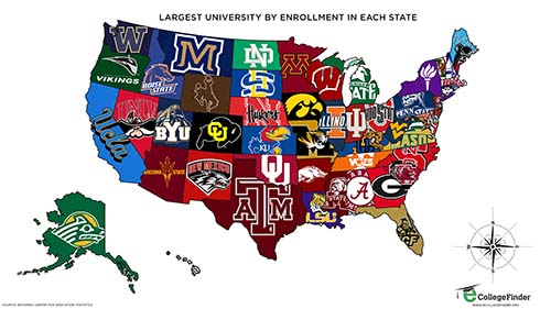 map-of-largest-university-by-enrollment-in-each-us-state